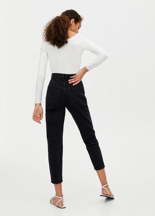 Sale черные мам - джинсы мом джинс  mom jeans pull&bear