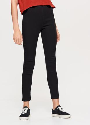 #розвантажуюсь черные джинсы skinny fit на высокой талии xxs xs