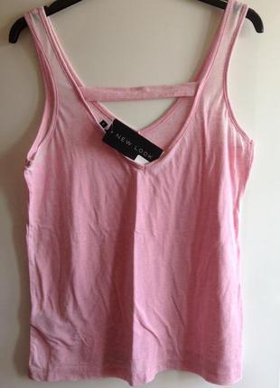 Пудровый топ футболка варенка оверсайз new look s m l 40