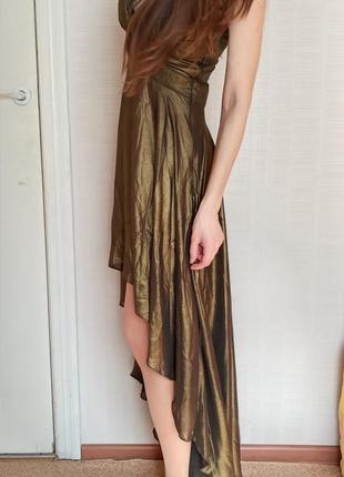 Sale шифоновое платье миди со шлейфом love republic xxs xs