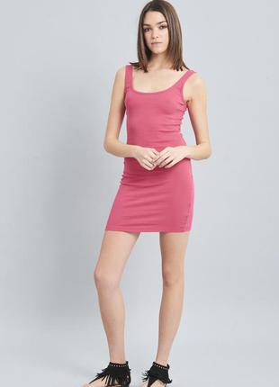 Sale летнее платье майка в мелкий рубчик terranova xxs xs