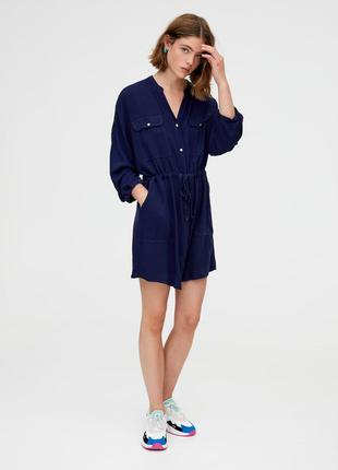 Sale платье - рубашка оверсайз zara pull&bear s m
