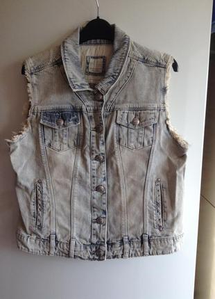 Sale джинсовая куртка жилетка джинсовка оверсайз s m l