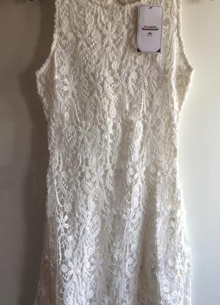 Sale белое кружевное платье футляр zara  pull&bear s