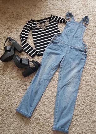 Крутой стильный джинсовый комбинезон 🖤tammy🖤