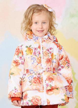 Куртка демисезонная для девочки цветы