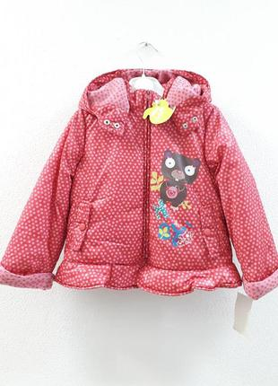 Демисезонная курточка на флисовой подкладке девочке