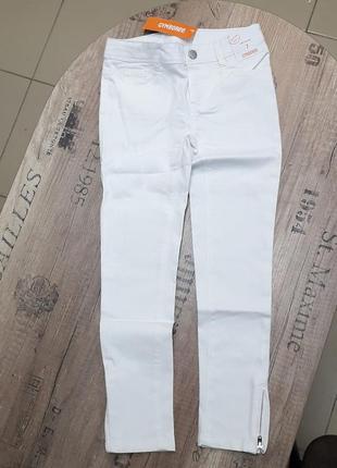 Белые джинсы-скинни gymboree