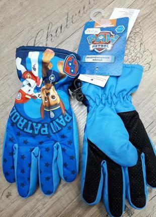 Перчатки-краги на флисовой подкладке щенячий патруль голубой