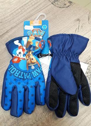 Перчатки-краги на флисовой подкладке щенячий патруль синий