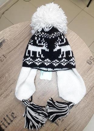 Зимняя шапка для девочки kamea