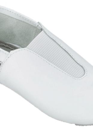 Чешки детские кожаные lapki белые бренд матита