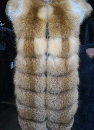 Жилетка натуральная лиса все размеры
