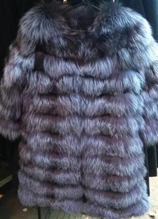 Шуба натуральная чернобурка трансформер все размеры