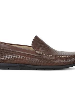 Кожаные мокасины ecco moc leather, 41 размер