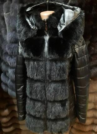 Курточка натуральная кожа и натуральная норка все размеры