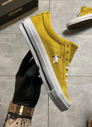 Кеды женские converse one star premium suede yellow