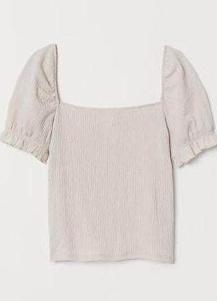 Жатая блуза футболка от h&m