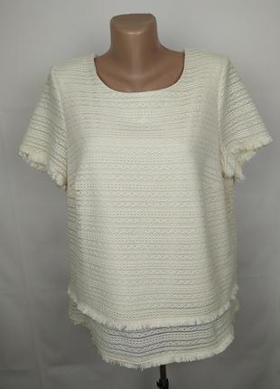 Блуза топ шикарная кружево большого размера marks&spencer uk 1...