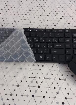 Клавиатура К06 беспроводная мышью и силиконовой накладкой