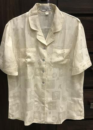Шелковая блуза Eleganse, 100% шелк, размер 36, S-M.