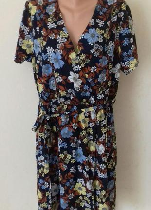 Красивое платье с принтом большого размера new look