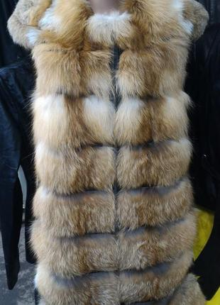 Жилетка лиса плюс кожа поперечка