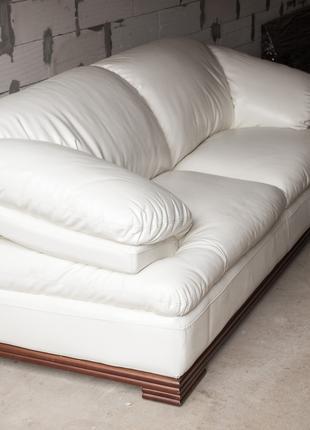 Кожаный диван (2) + кресло / Комплект мягкой мебели для дома