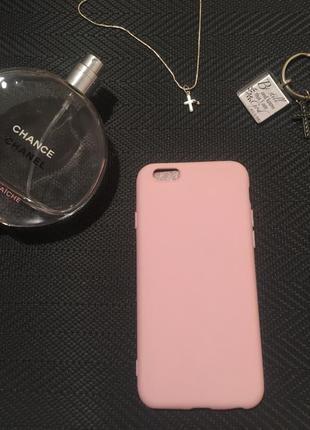 Чехол на телефон айфон 6,6s нежнорозовый