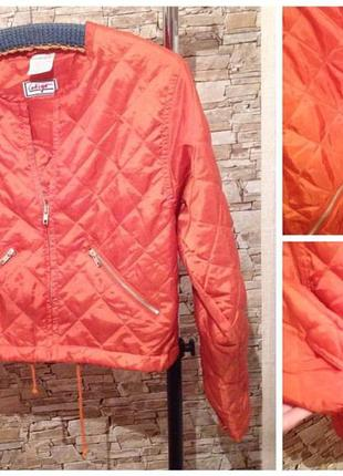 Куртка курточка весна-осень стёганная оранж