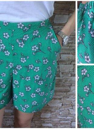 Шортики шорты лёгкие летние женские с высокой посадкой f&f