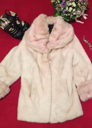 Шуба розовая, зимняя куртка, шубка