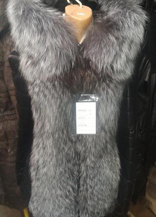 Курточка жилетка трансформер чернобурка все размеры