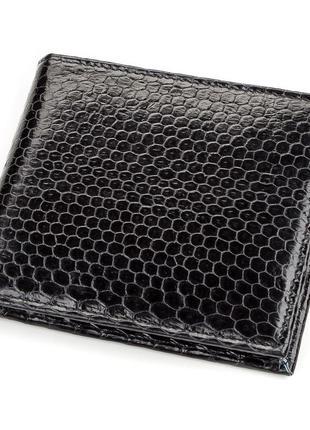 Кошелек sea snake leather  из натуральной кожи морской змеи че...