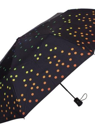 Зонт женский полуавтомат happy rain (хеппи рэйн) u42278-4 черный