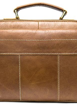 Сумка мужская горизонтальная из кожи vintage 20005 рыжая