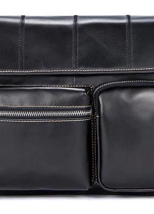 Сумка кожаная vintage 14651 черная