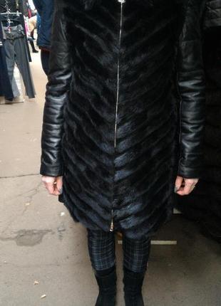 Щуба жилетка курточка норка натуральная кожа все размеры