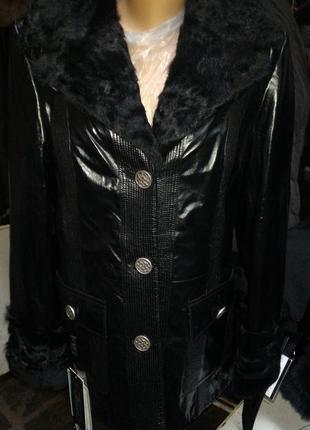 Дубленка курточка натуральная лвчина и кожа