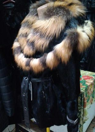Шуба полушубок козлик лиса 50-52