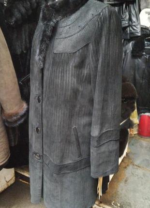 Курточка натуральная кожа кролик норка 50-52