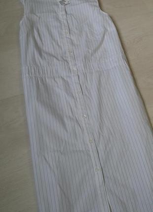 Плаття/сарафан міді в дрібну полоску h&m