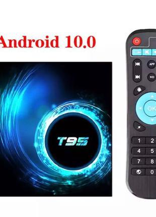 T95 Смарт ТВ приставка Android 10.0 2/16GB + Бесплатная доставка!