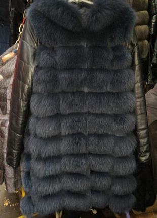 Жилетка трансформер кожаные рукава