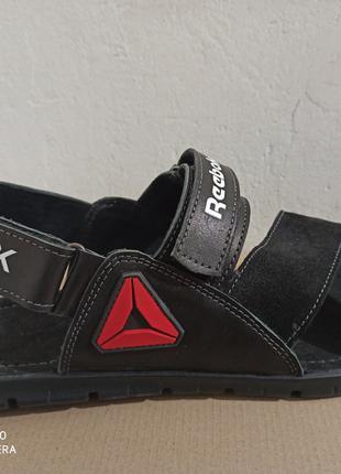 Кожаные мужские летние сандалии Reebok большого размера 46, 47,