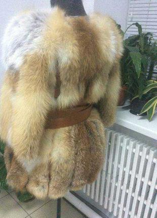 Полушубок из меха лисы