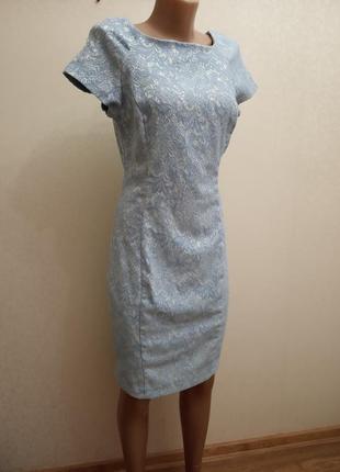 Платье, нежно голубого цвета, аквамарин,кружево,гипюр,new look