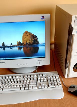 Комплект: системний блок + монітор + клавіатура + мишка