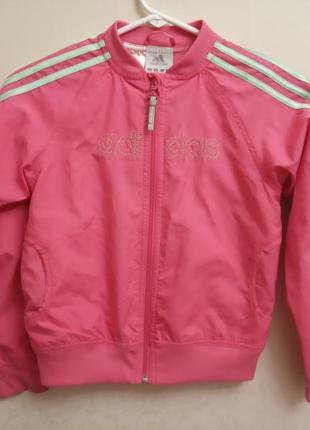 Детская ветровка,курточка,розовый,ддя девочки, adidas