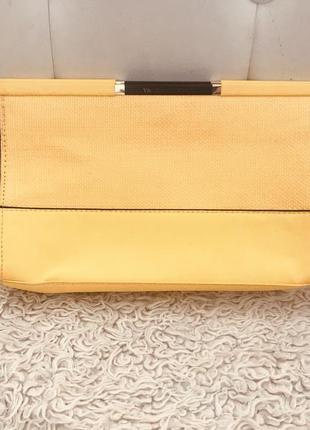 Косметичка, клатч, сумочка, желтый